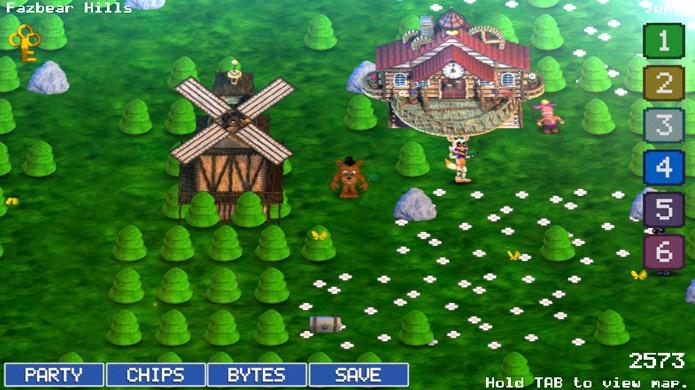Five Nights at Freddys World agora é gratuito e trouxe melhorias como mapa remodelado (Foto: Reprodução/GameJolt)