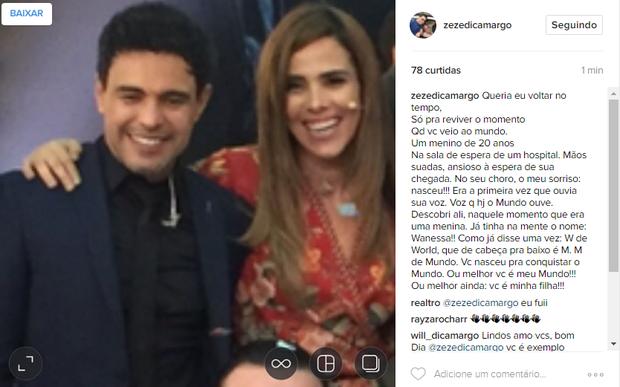 Zeze di Camargo e Wanessa (Foto: Reprodução / Instagram)