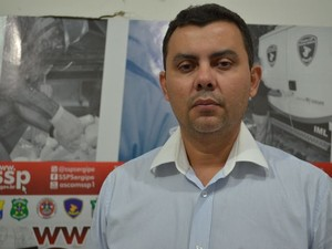 Delegado Paulo Márcio Ramos Cruz investigou o latrocínio (Foto: Marina Fontenele/G1)