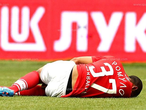 Romulo lesionado Spartak de Moscou  (Foto: Divulgação / Site Oficial)