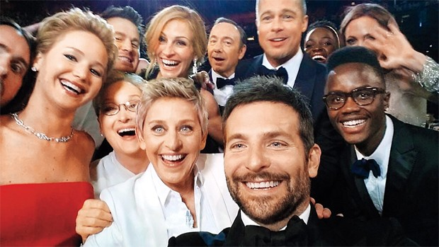 A famosa selfie do Oscar 2014 (Foto: Reprodução)