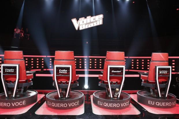 cadeiras técnicos (Foto: Inácio Moraes/TV Globo)