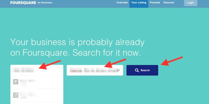 Buscando a página de um restaurante ou loja para administrar no Foursquare (Foto: Reprodução/Marvin Costa)