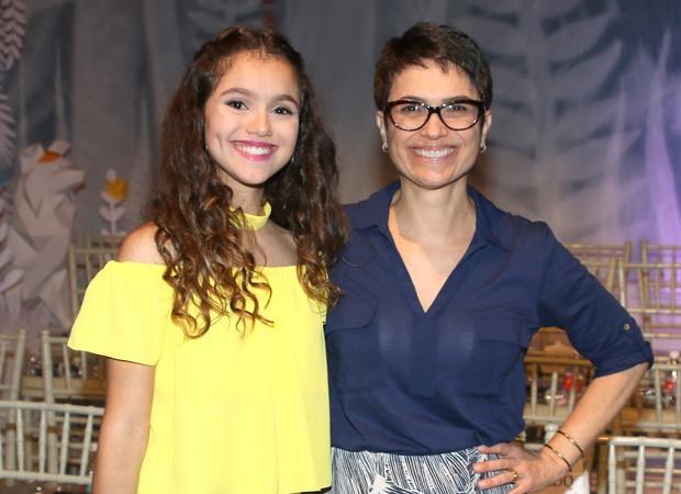 Sandra Annenberg e a filha, Elisa Paglia (Foto: Thiago Duran/AgNews)