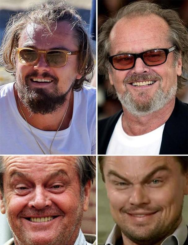Leonardo DiCaprio ou Jack Nicholson? (Foto: Reprodução)