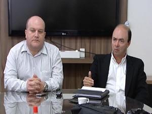coletiva Hospital São João de Deus HSJD plano de saúde Divinópolis MG (Foto: Reprodução/TV Integração)