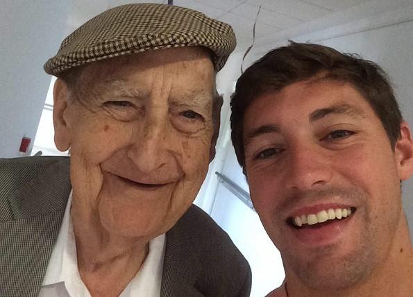 Clemente Pérez de Madrid e Alberto Cabanes, cofundadores do 'Adote un abuelo'