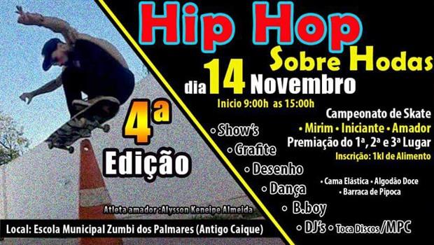 Participe da 4ª Edição do Hip Hop Sobre Rodas, em Londrina (Foto: Divulgação)