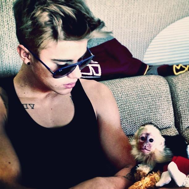 Justin Bieber com miquinho (Foto: Instagram / Reprodução)