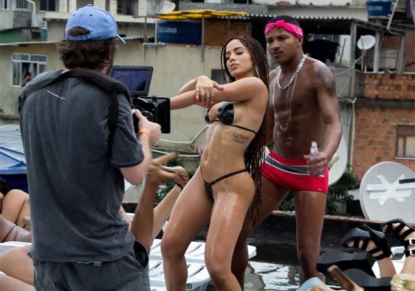 Bastidores do clipe Vai Malandra (Foto: Andre Munhoz)