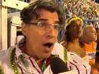 Vídeo: Paulo Betti 'encarna' Téo Pereira e avalia o carnaval na Sapucaí