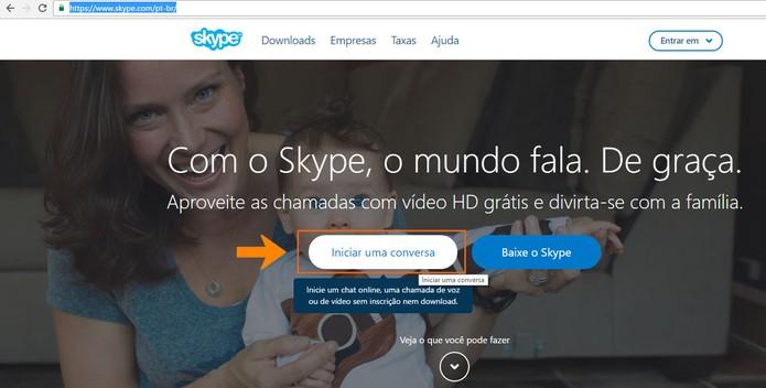 Acesse o Skype pelo computador (Foto: Reprodução/Barbara Mannara)