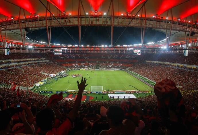 Mosaico torcida, Flamengo x Atlético-PR (Foto: Pedro Kirilos/Agência O Globo)