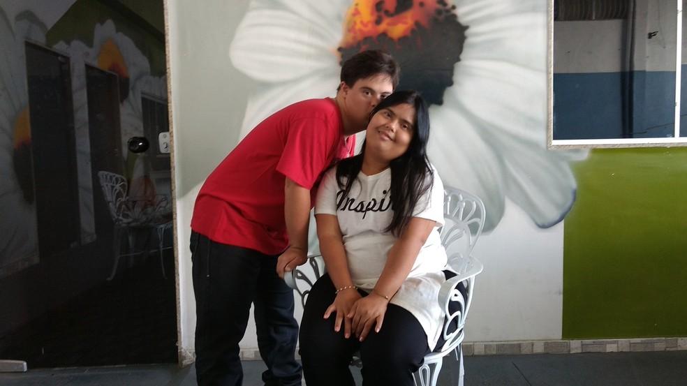 Gabriel e Nathalia são pura alegria juntos (Foto: Paulo Henrique Cardoso/G1)