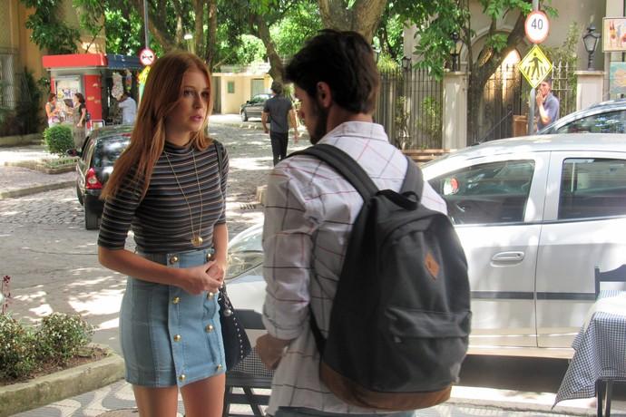 Eliza leva corte de Jonatas ao falar de Arthur (Foto: Monique Arruda / Gshow)