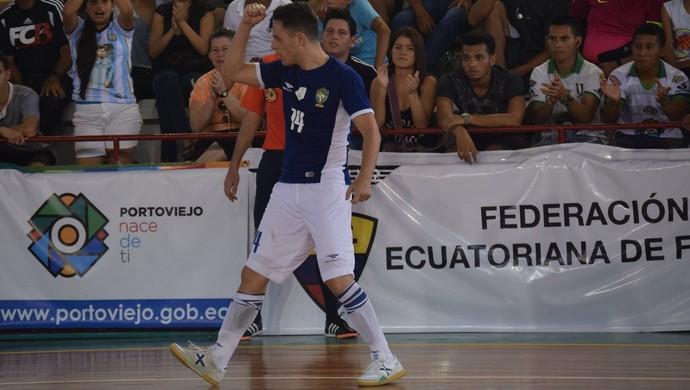 Rodrigo Brasil Colômbia Copa América de Futsal (Foto: Luis Domingues/CBFS)