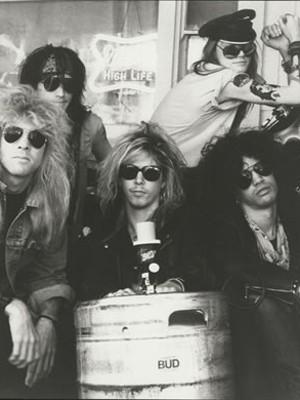 Formação original do Guns: Steven Adler, Izzy Stadlin, Duff McKagan, Axl Rose e Slash (Foto: Divulgação / Greg Freeman)