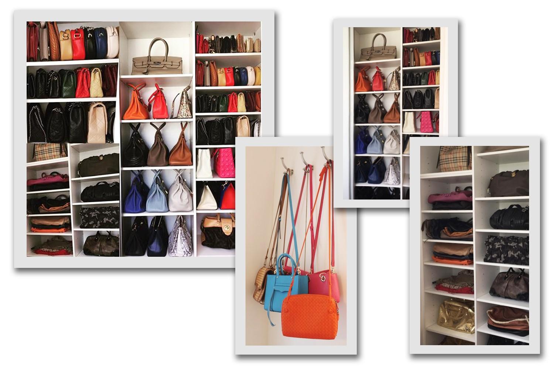 A coleção de bolsas de Deborah Secco tem uma infinidade de modelos Hermès – onde 16 são as valiosas Birkin –, Chanel, Gucci, Dior... (Foto: Divulgação)