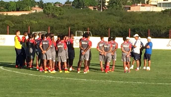 América-RN treino (Foto: Carlos Arthur da Cruz/GloboEsporte.com)