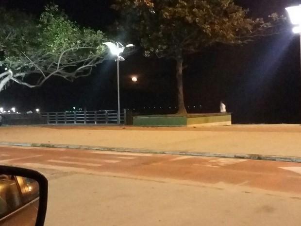 Local onde professora de Brasília fotografou 'fantasma' (Foto: Alessandra Guimarães Luiz/Arquivo Pessoal)