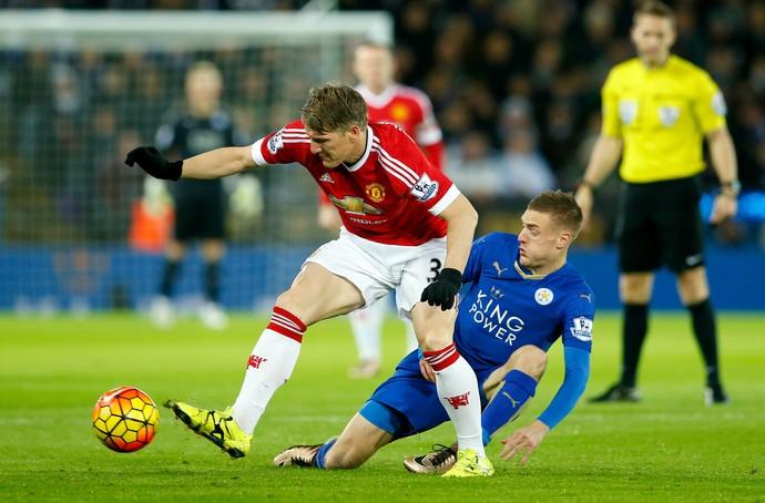Schweinsteiger Vardy Leicester Manchester United (Foto: Reuters)