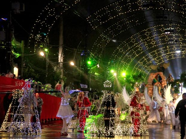 Grande Desfile de Natal, em Gramado (Foto: Cleiton Thiele/SerraPress.)