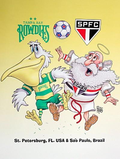 Cartaz SPFC Tampa Bay