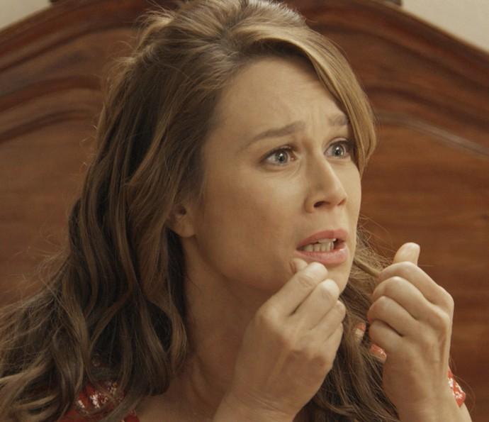 Mesmo apreensiva, Tancinha decide contar toda a verdade para Apolo (Foto: TV Globo)