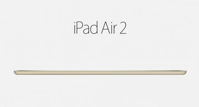 iPad Air 2 é o iPad mais fino já lançado (Foto: Reprodução) (Foto: iPad Air 2 é o iPad mais fino já lançado (Foto: Reprodução))