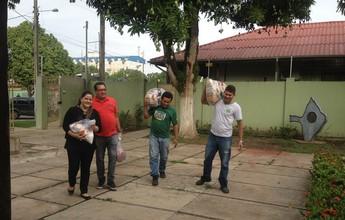 Alimentos arrecadados na Antônio Assmar são doados para instituições