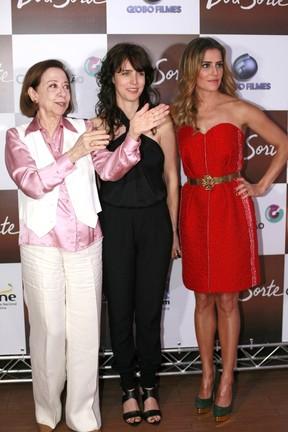 Fernanda Montenegro, Carolina Jabour e Deborah Secco (Foto: Isac Luz / EGO)