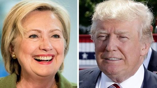 A democrata Hillary e o republicano Trump lideram as pesquisas de intenções de votos da eleição presidencial dos EUA  (Foto: AP)