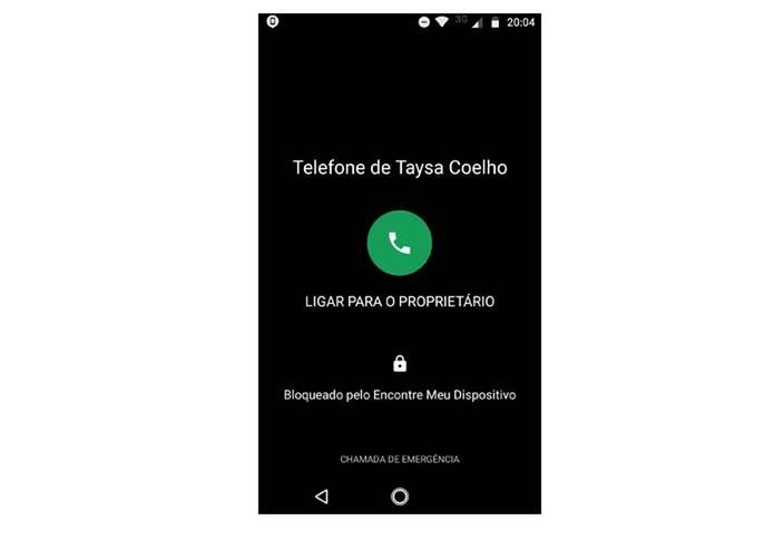 Tela bloqueada pelo Google (Foto: Reprodução/Taysa Coelho)