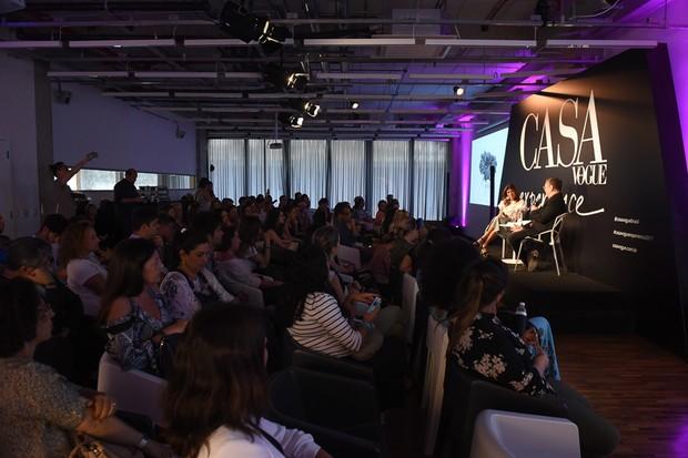 Palestra lotou o auditório do Casa Vogue Experience (Foto: Cleiby Trevisan)