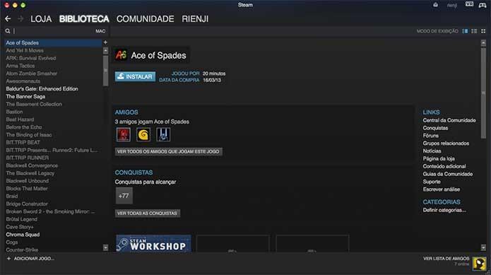 Por fim, localize Assassins Creed Syndicate na sua biblioteca e instale (Foto: Reprodução/Felipe Vinha)
