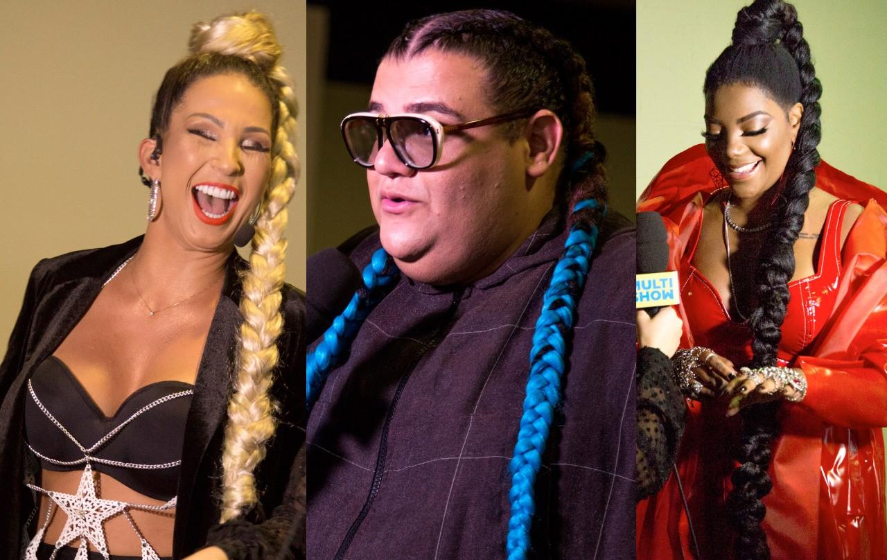 Valesca, Gominho e Ludmilla apostaram nas tranas (Foto: Divulgao/Multishow)