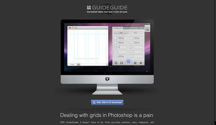Homepage do site do plugin Guide Guide (Foto: Repodução/ Lu Fávero)