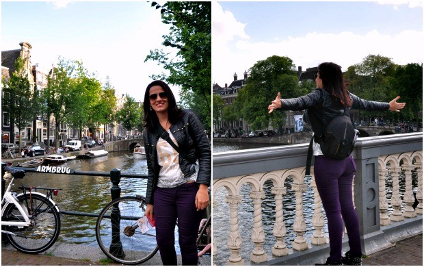 Amsterdam foi considerada por Júnia a cidade mais bonita (Foto: Arquivo Pessoal)