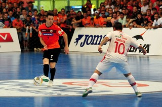 Carlos Barbosa x Sorocaba, semifinal da Liga Nacional de Futsal 2015 -Grillo, Carlos Barbosa (Foto: Ricardo Artifon )
