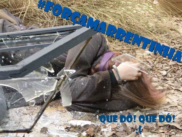 #ForçaMarrentinha! Será que a roqueira vai ficar bem? Tadinha da Lia :( (Foto: Malhação / Tv Globo)