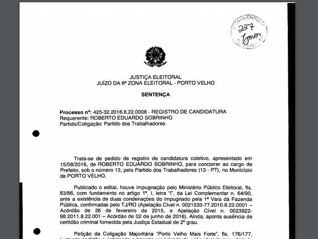 Decisão foi publicada no site do TRE-RO nesta segunda, 5 (Foto: TRE-RO/ Divulgação)