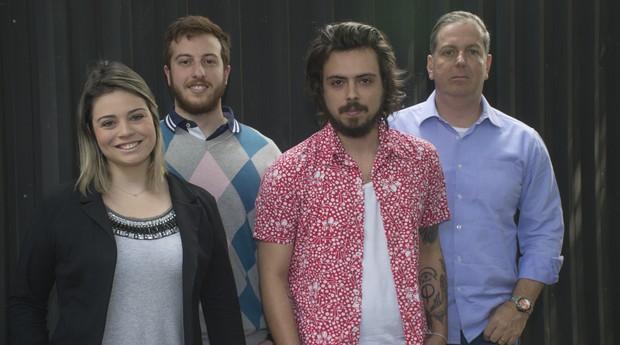 Da esquerda para direita, Vitoria Ferreira, Felipe Rota, Guilherme Almeida e Renato Gianni, sócios da Helpie Tortas (Foto: Divulgação/Ines De Divitiis)