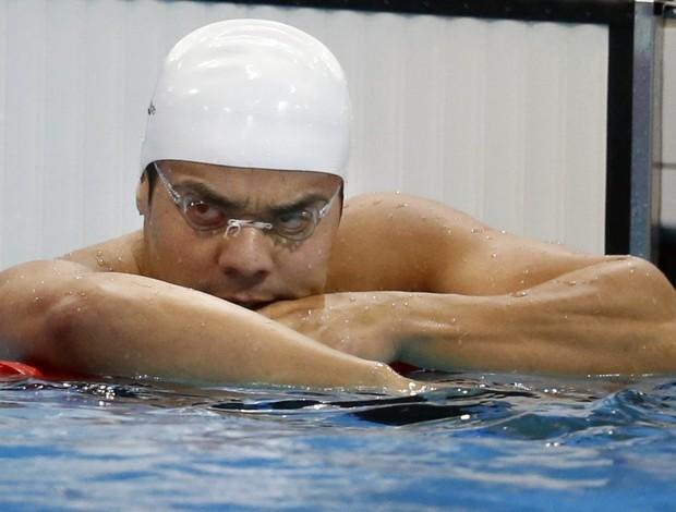 Felipe França semifinal dos 100m peito Jogos de Londres (Foto: Lavandeira Jr. / EFE)
