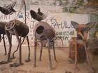 Artista alagoano dá vida a animais de metal criados a partir de lixo e sucata