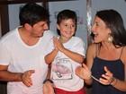 Juliana Knust comemora aniversário do filho mais velho: 'Amor maior'