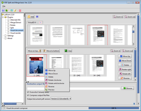 screenshot de PDF Split and Merge