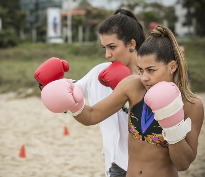 Olha só a pose dessa dupla! (Foto: Raphael Dias/Gshow)