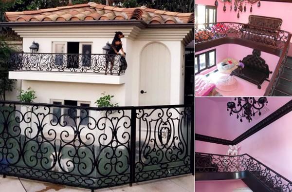 Paris Hilton revolta internautas ao mostrar fotos da 'mansão' que construiu para seus cães (Foto:  )
