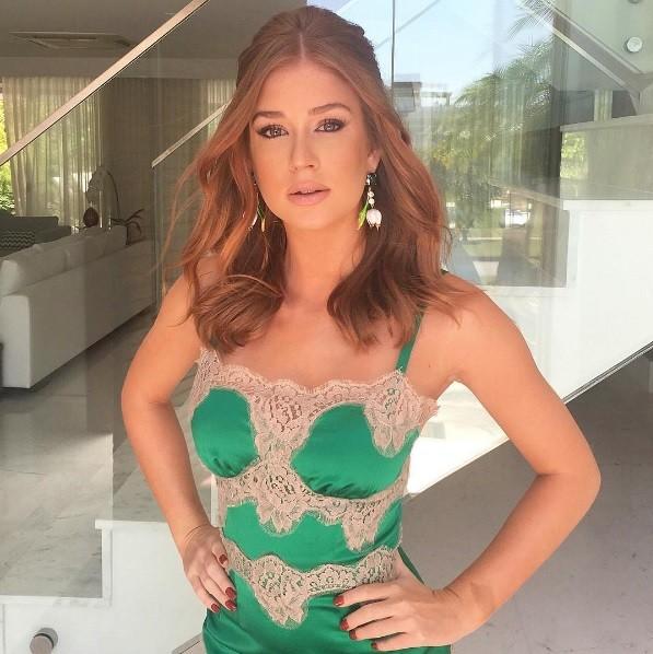 Marina Ruy Barbosa usou look Dolce & Gabbana na sexta edição do evento, no Rio (Foto: Reprodução/ Instagram)