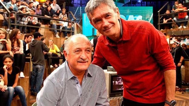 participação do Luiz Felipe Scolari Felipão no programa Altas Horas (Foto: Gustavo Tilio / Globoesporte.com)